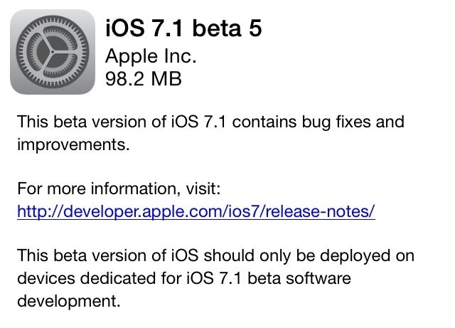 ios7.1 beta