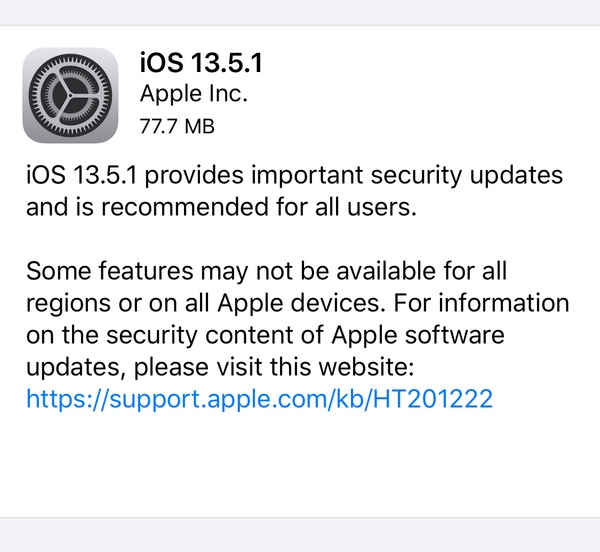 download ios 13.5.1